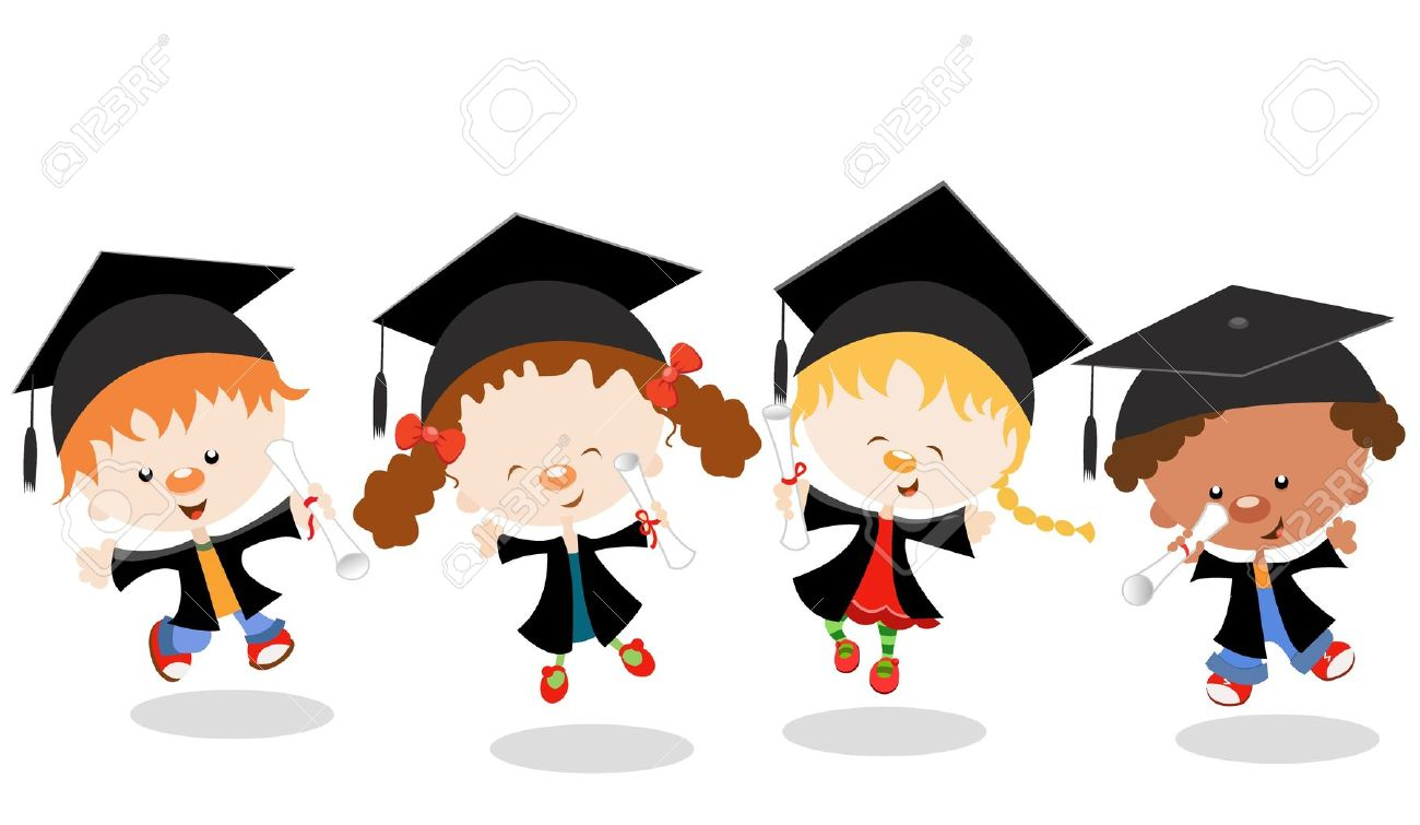 my teacher thought this first day of school ezar s Cap and Gown Cartoon Cap and Gown Clip