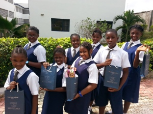 The Competitors. (Behind, From Left to Right: Chayil, Semilore, Funmi and Bimpe. Front, From Left to Right: Wunmi, Dunbarin, Amarachi and Timilehin)